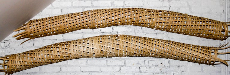 American 21st Century Woven Oak Sculptures by Analee Soskin For Sale