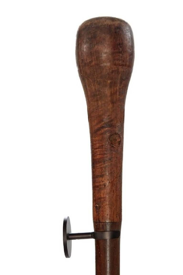 Kenyan 20th Century Very Large Wall-Mounted African Pestle For Sale