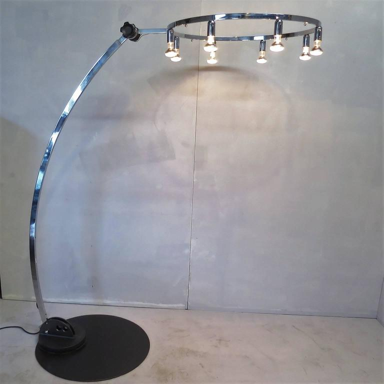 unusual chrome floor lamp extension curved arm articulated With floor lamp with extension arm