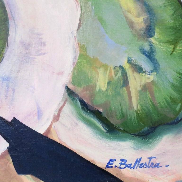 Oiled Contemporary Oil Painting by E. Ballestra Expressionist Provence School For Sale