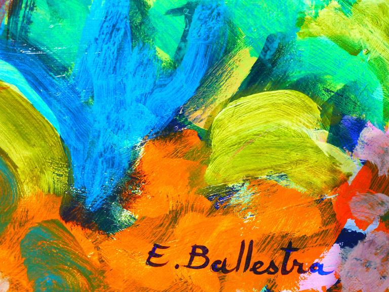 Expressionist  Oil Painting by Ballestra For Sale 1