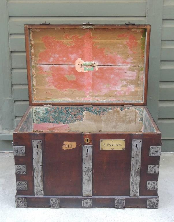 Mid 19th C English Oak Silver Chest with Double Lock 3