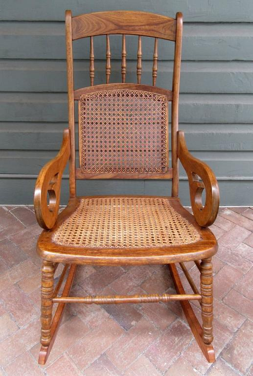 Swell Mid 19Th Century St Croix Regency Mahogany And Cane Rocking Chair Onthecornerstone Fun Painted Chair Ideas Images Onthecornerstoneorg