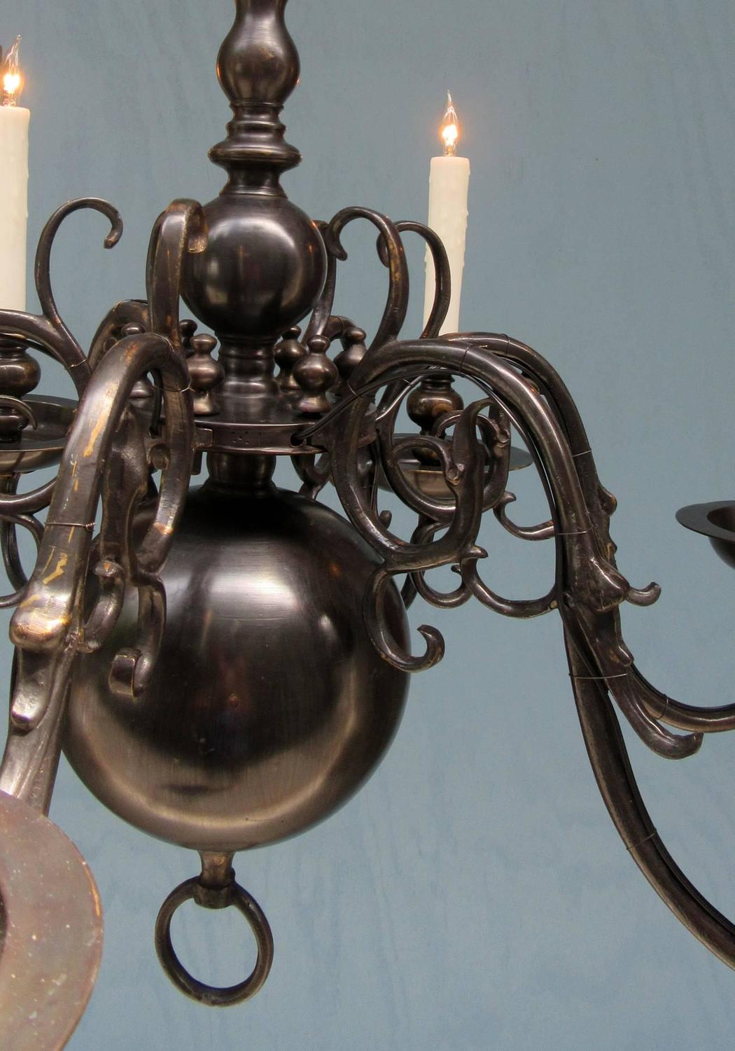 Early 20th Century American Dutch Colonial Black Patinated Brass ...