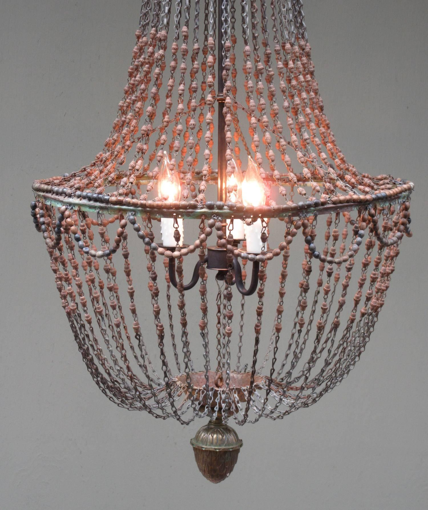 Chandelier With Wooden Beads Affordable Edison Vintage Retro