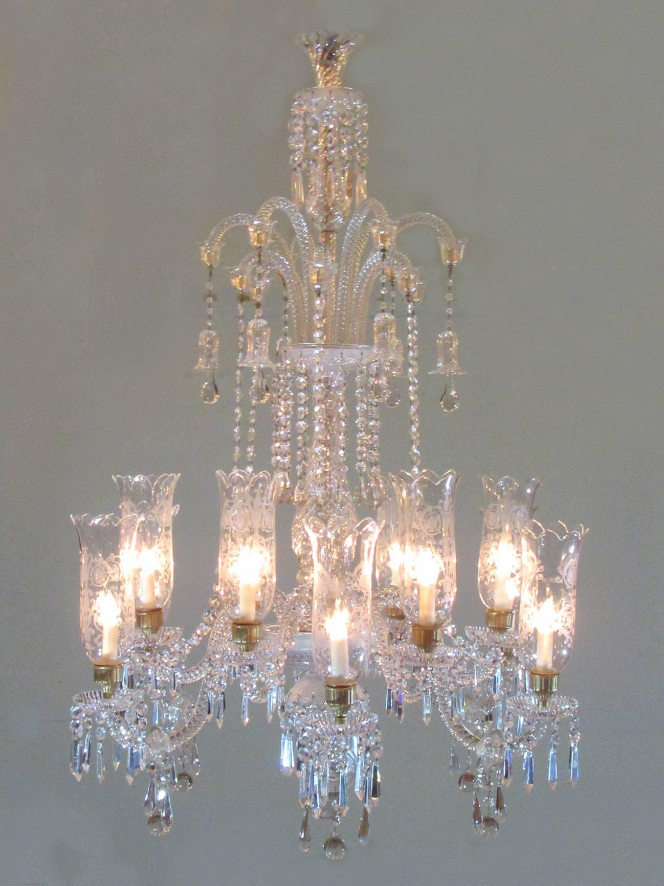 Monumental 19th century french baccarat crystal chandelier with monumental 19th century french baccarat crystal chandelier with hurricanes at 1stdibs aloadofball Image collections