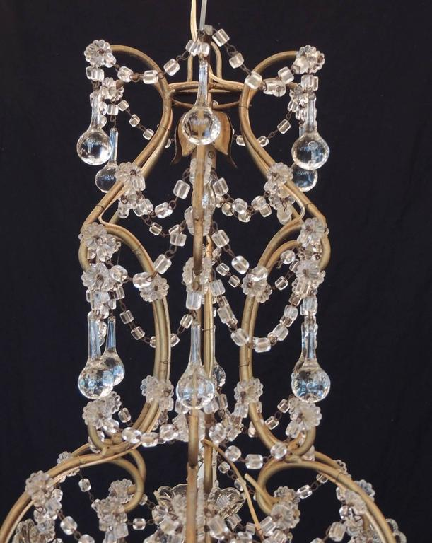 Early 20th c venetian crystal chandelier for sale at 1stdibs chinoiserie early 20th c venetian crystal chandelier for sale aloadofball Images