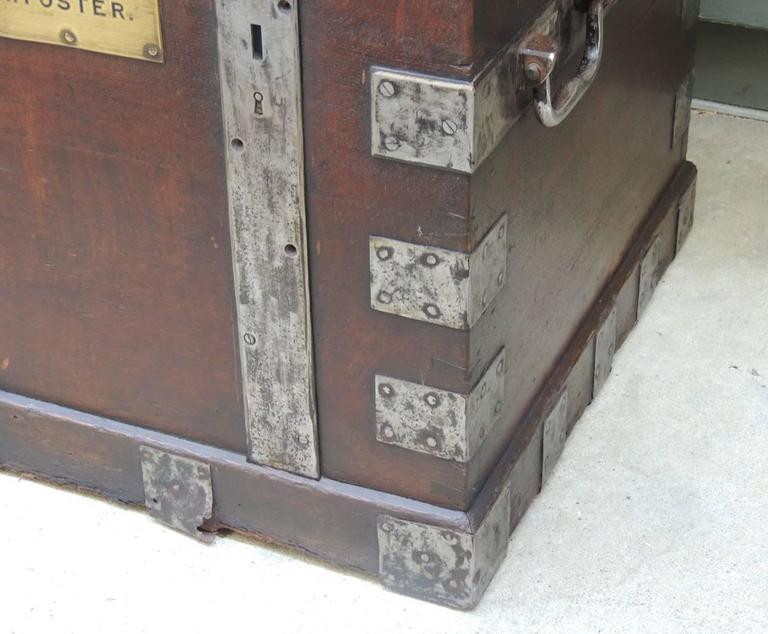 Mid 19th C English Oak Silver Chest with Double Lock 6