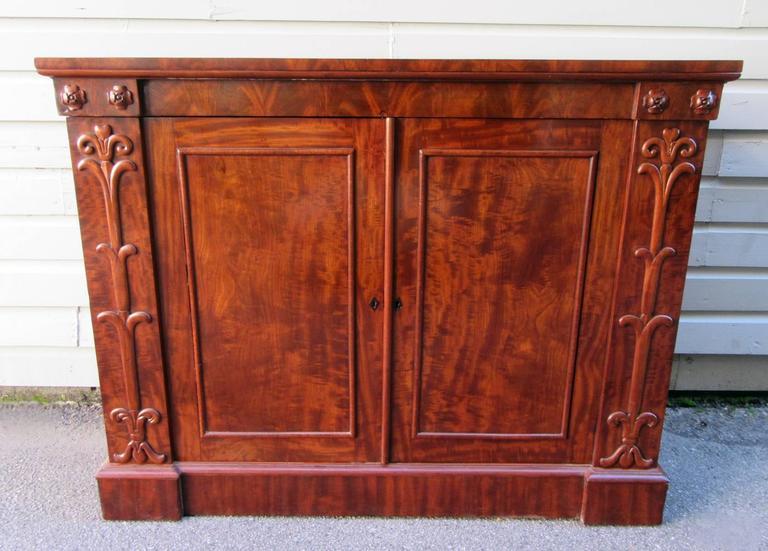 La Credenza In English : 19th century english regency mahogany credenza with egyptian motifs
