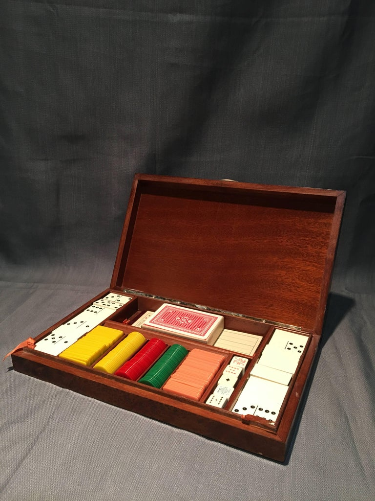 Early 20th Century 800 Silver Gentleman's Game Set   For Sale 2
