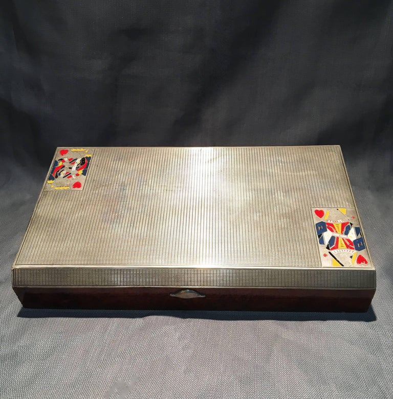 Early 20th Century 800 Silver Gentleman's Game Set   In Excellent Condition For Sale In Charleston, SC