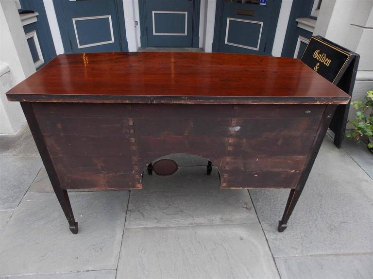 English Hepplewhite Mahogany Bow Front Inlaid Sideboard, Circa 1780 For Sale 3