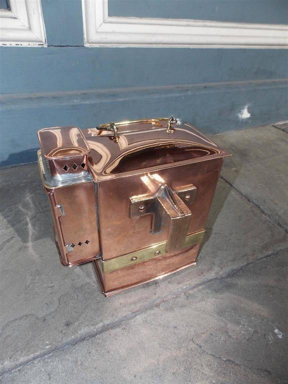 American Craftsman American Solid Copper and Brass Naval Ships Binacle, Lionel Corp. NY, Circa 1942 For Sale