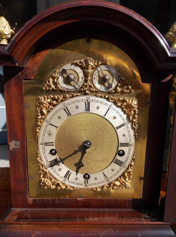 German Mahogany And Ormolu Figural Bracket Clock W And H
