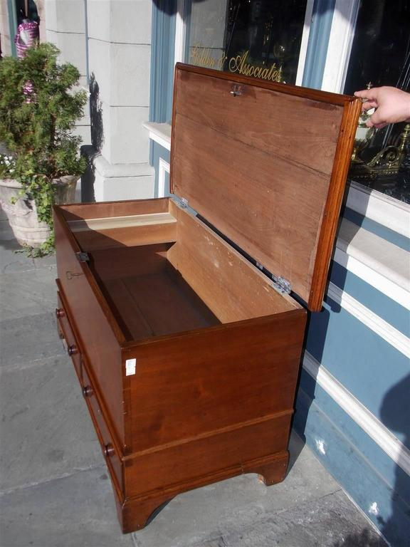 Late 18th Century American Chippendale Walnut Exposed Dovetail Blanket Chest, Circa 1770 For Sale