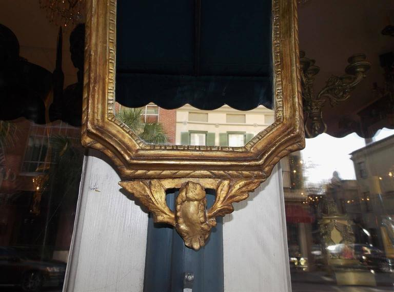Early 19th Century Pair of Italian Gilt Carved Wood Foliage Wall Mirrors, Circa 1810 For Sale