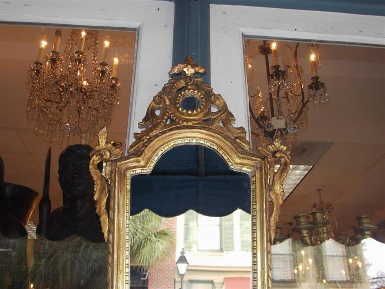 Pair of Italian Gilt Carved Wood Foliage Wall Mirrors, Circa 1810 In Excellent Condition For Sale In Charleston, SC