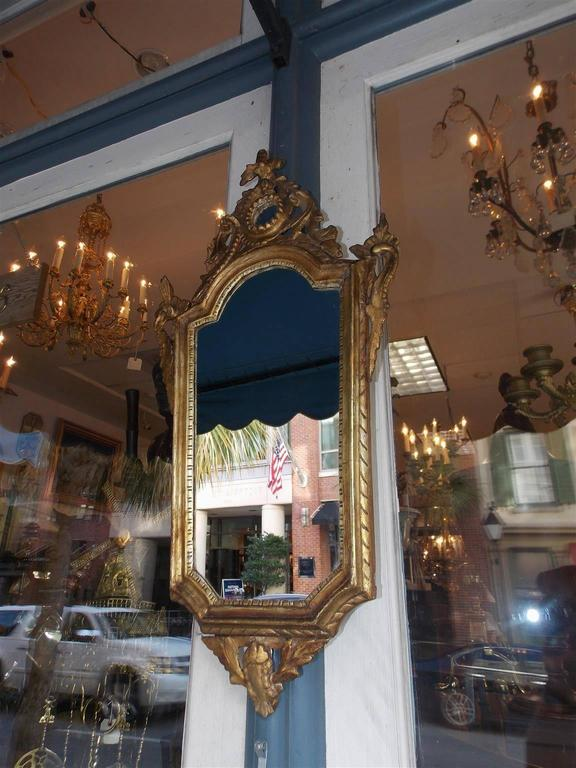 Neoclassical Pair of Italian Gilt Carved Wood Foliage Wall Mirrors, Circa 1810 For Sale