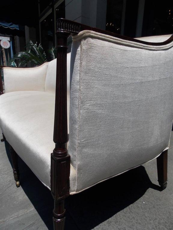 American Mahogany Sheraton Style Upholstered Sofa, Circa 1880 For Sale 2