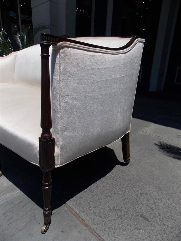 Upholstery American Mahogany Sheraton Style Upholstered Sofa, Circa 1880 For Sale