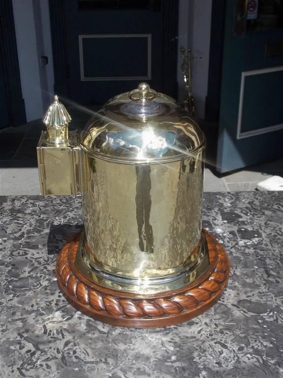 English Brass and Mahogany Yacht Binnacle Southampton, Circa 1870 For Sale 1