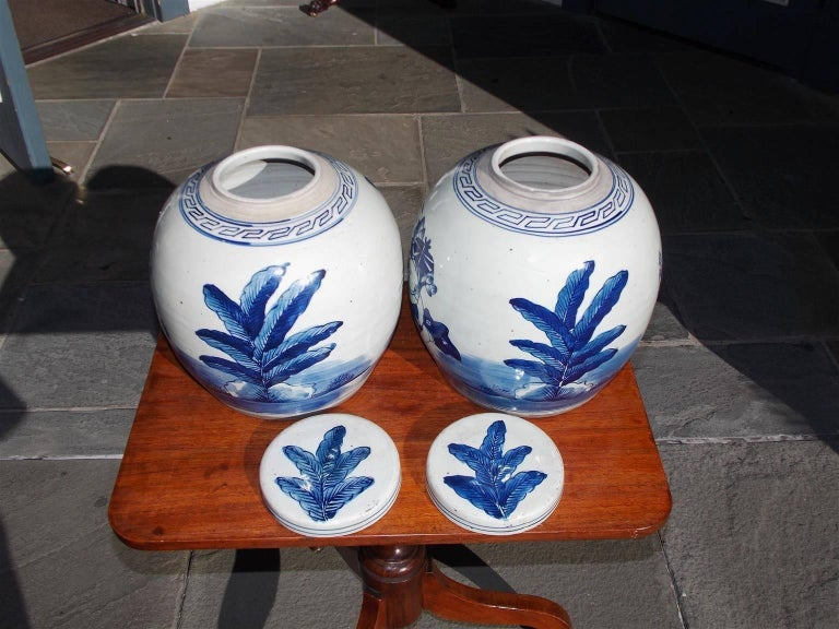 Pair of Chinese Porcelain Glazed Figural Ginger Jars with Lids, 20th Century For Sale 6