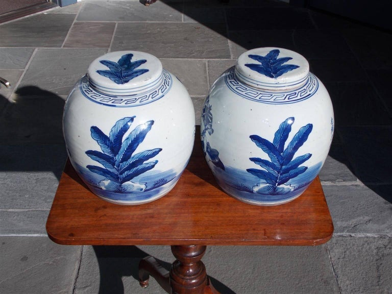 Pair of Chinese Porcelain Glazed Figural Ginger Jars with Lids, 20th Century For Sale 2