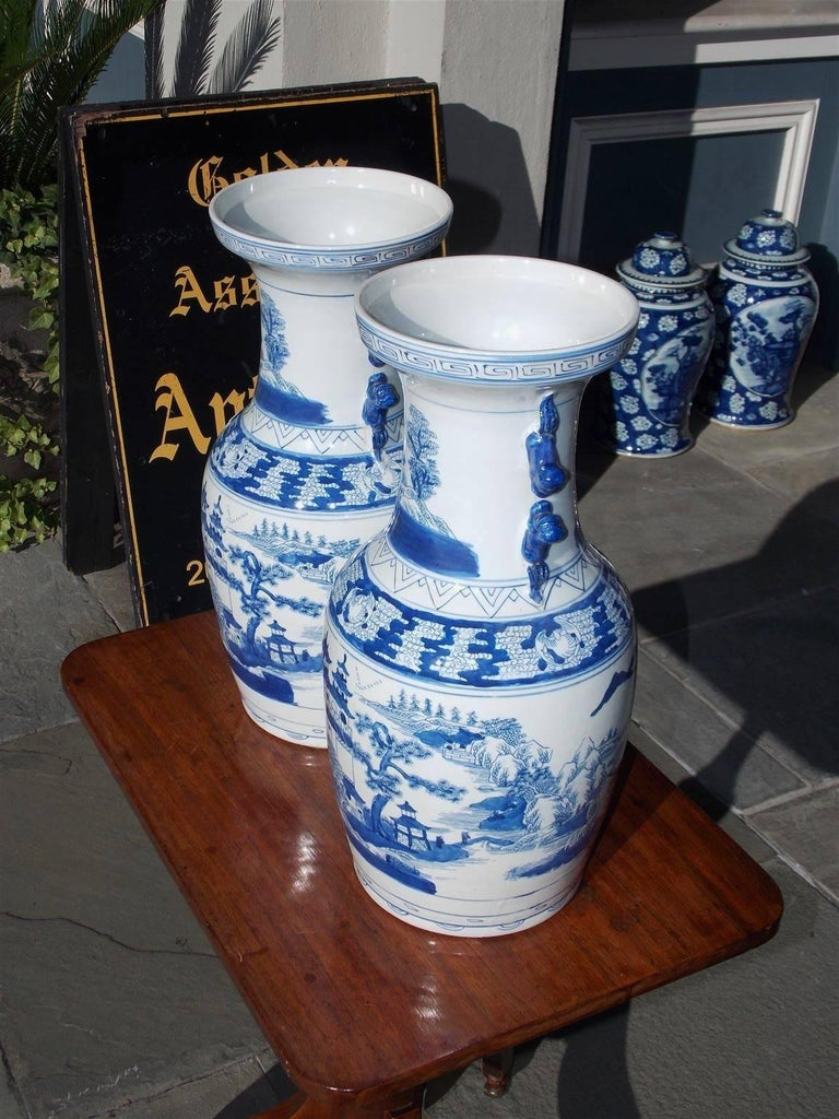 Pair of Chinese Porcelain Glazed Foo Dog and Pagoda Temple Jars, 20th Century In Excellent Condition For Sale In Charleston, SC