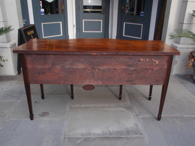 English Mahogany Serpentine Tambour and Inlaid Sideboard, Circa 1790 For Sale 9