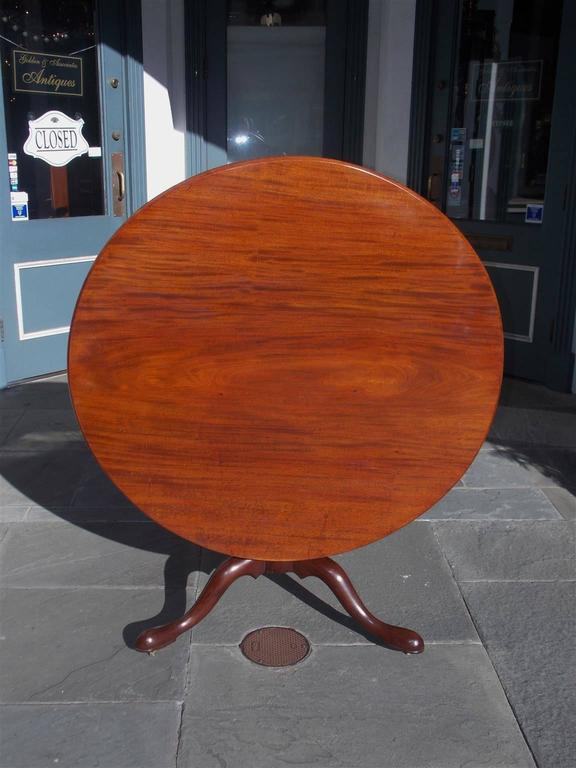 Mid-18th Century English Chippendale Mahogany Center Table With One Board Top.  Circa 1760 For Sale