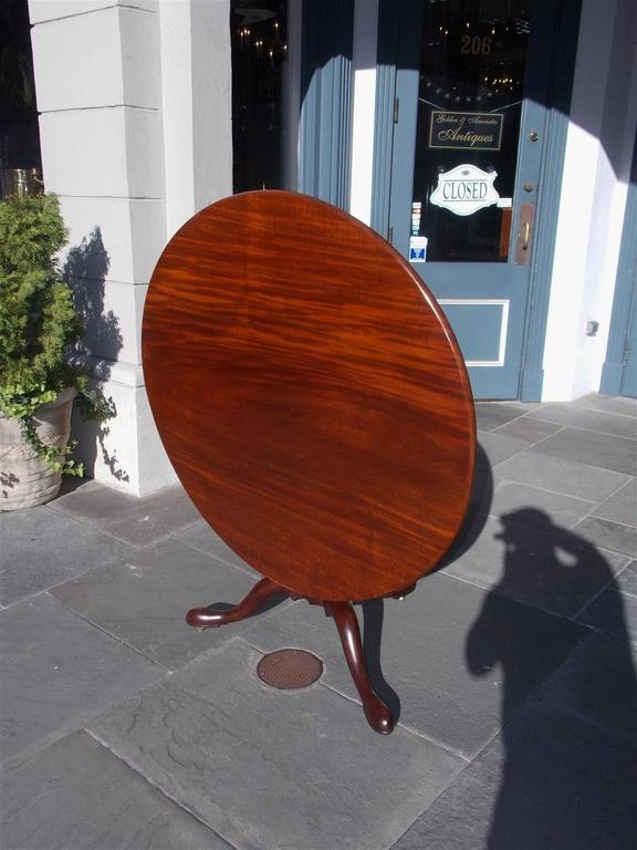 English Chippendale Mahogany Center Table With One Board Top.  Circa 1760 For Sale 1