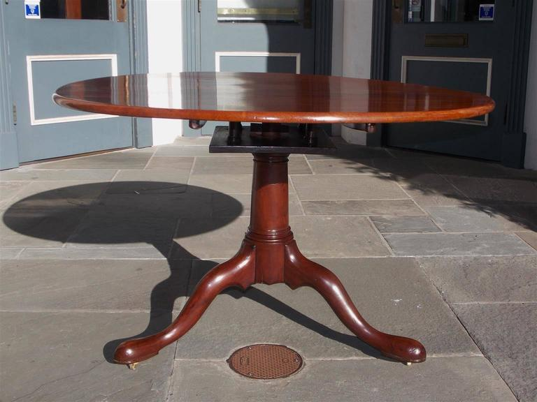 English Chippendale Mahogany Center Table With One Board Top.  Circa 1760 In Excellent Condition For Sale In Charleston, SC