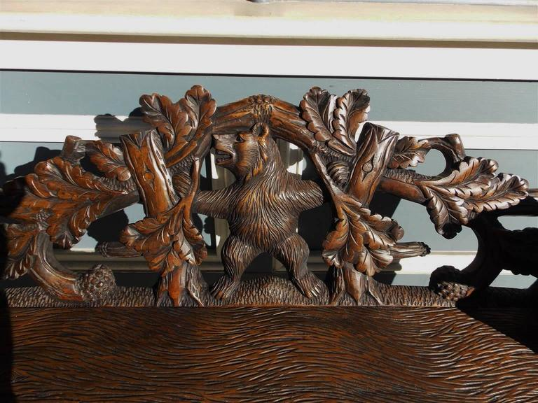 Switzerland Black Forest Carved Bear Bench Circa 1900 At