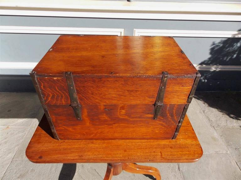 English Oak Liquor Bottle Traveling Case, Circa 1780 For Sale 3