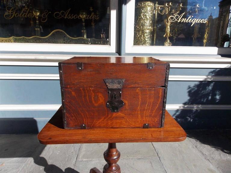 George III  English Oak Liquor Bottle Traveling Case, Circa 1780 For Sale