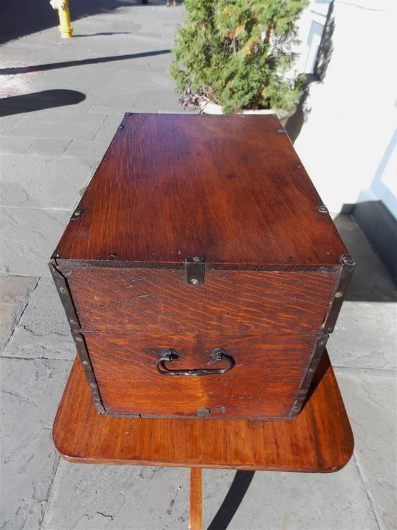 Late 18th Century  English Oak Liquor Bottle Traveling Case, Circa 1780 For Sale