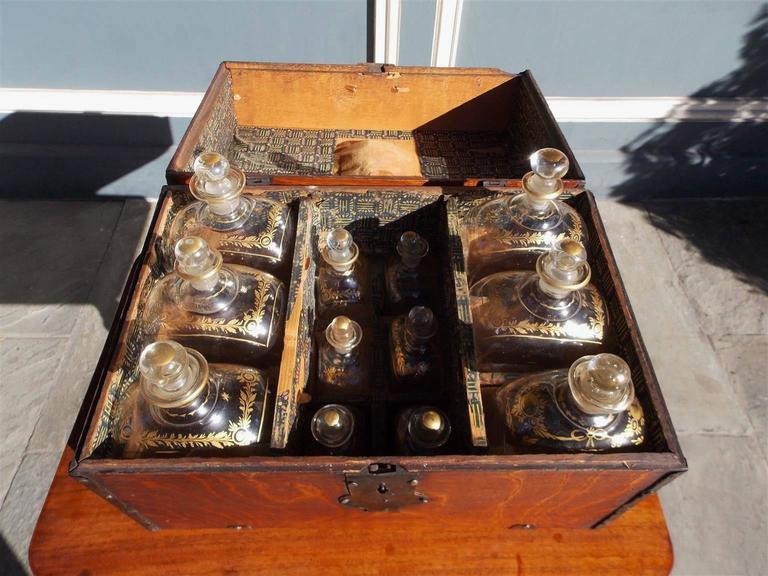 English Oak Liquor Bottle Traveling Case, Circa 1780 For Sale 1