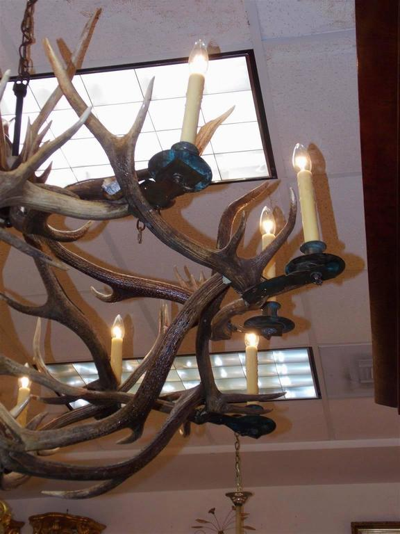 French antler and brass bobeche hanging chandelier circa 1870 at french antler brass bobeche hanging chandelier circa 1870 for sale 1 aloadofball Images