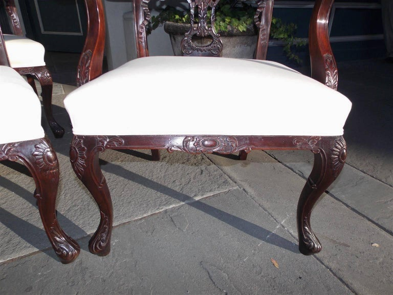 Set of Eight English Chippendale Mahogany Dining Room Chairs, Circa 1760 For Sale 2