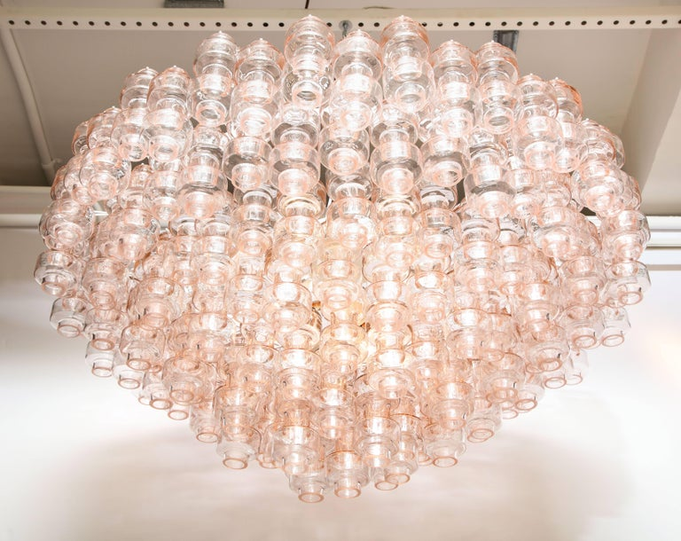 Mid-Century Modern One of a Kind Champagne Pink Murano