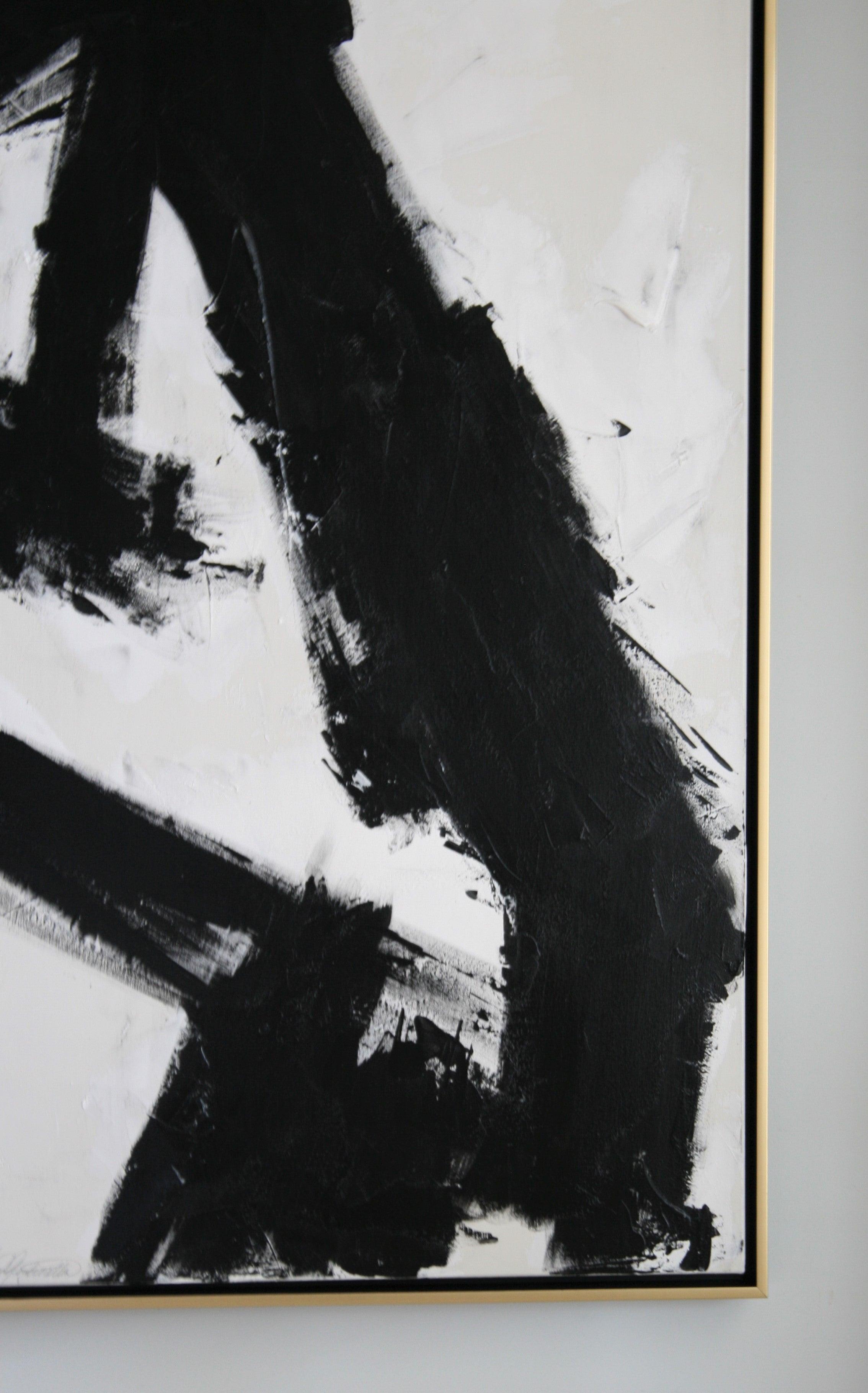 Original Black And White Painting By Argentine Artist Karina