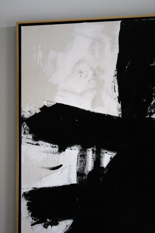 Original Black and White Painting by Argentine Artist Karina Gentinetta 3