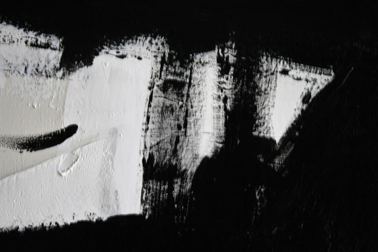 Original Black and White Painting by Argentine Artist Karina Gentinetta 4