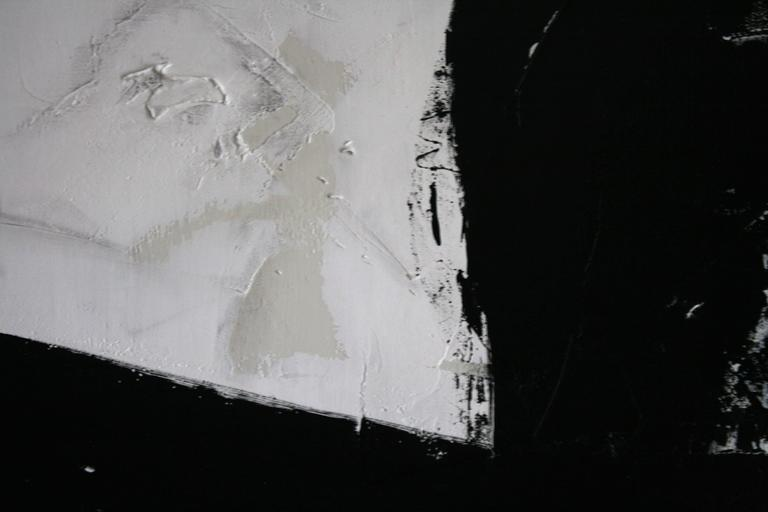 Original Black and White Painting by Argentine Artist Karina Gentinetta 5