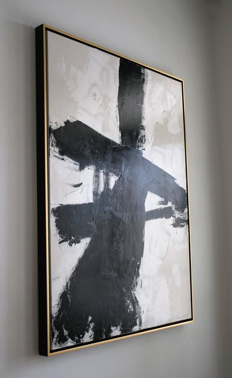 Original Black and White Painting by Argentine Artist Karina Gentinetta 9