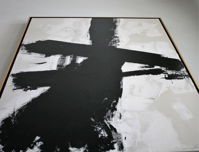 Original Black and White Painting by Argentine Artist Karina Gentinetta 10