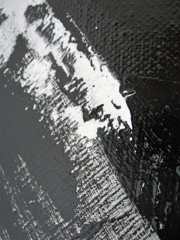 American Original Black and White Painting by Argentine Artist Karina Gentinetta For Sale