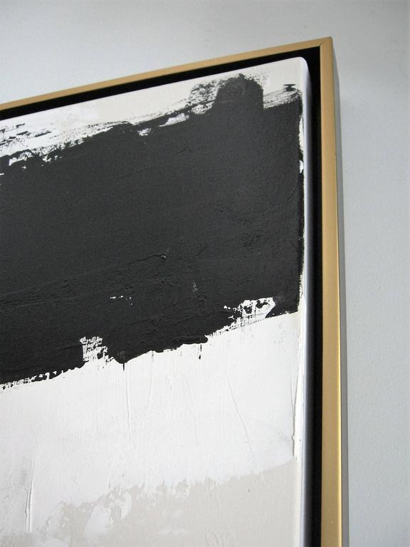 Original Black and White Painting by Argentine Artist Karina Gentinetta In Excellent Condition For Sale In New York, NY