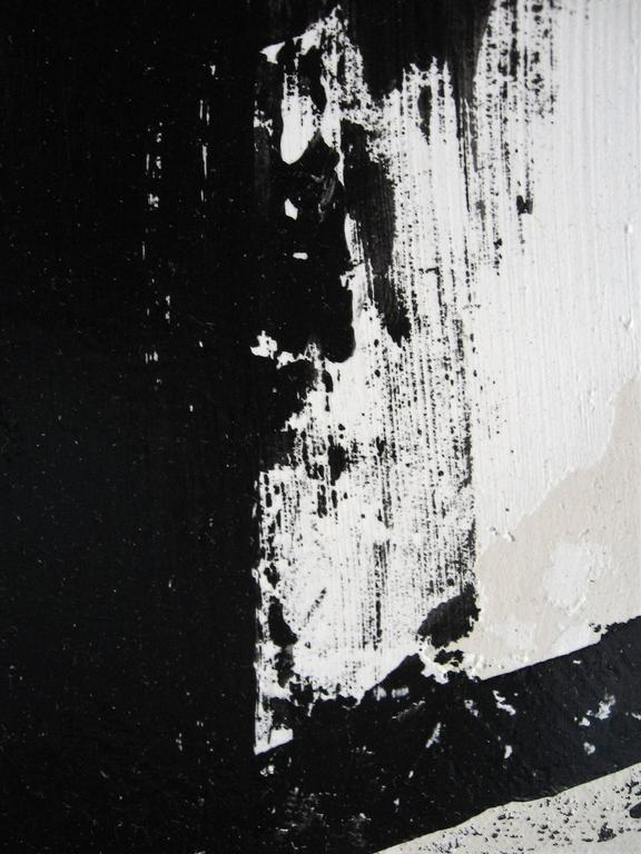 Acrylic Original Black and White Painting by Argentine Artist Karina Gentinetta For Sale