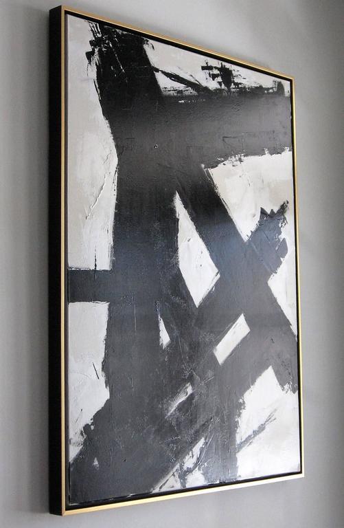 Original Black and White Painting by Argentine Artist Karina Gentinetta For Sale 2